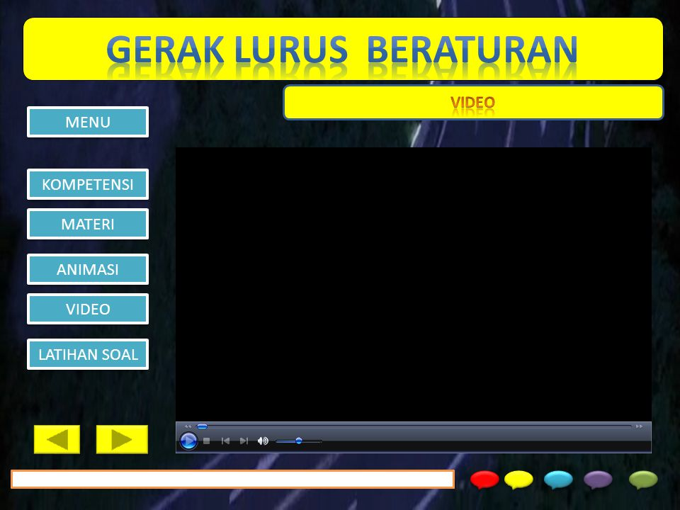 GERAK LURUS BERATURAN VIDEO MENU KOMPETENSI MATERI ANIMASI VIDEO