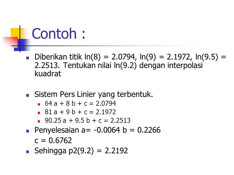 Contoh Soal Interpolasi Linier Metode Numerik Contoh Soal Terbaru