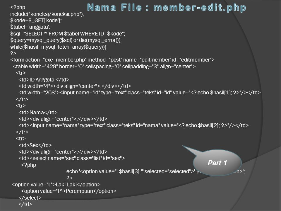 Nama File : member-edit.php