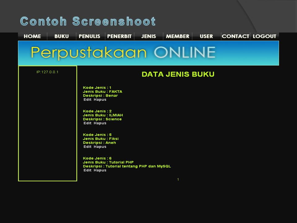 Contoh Screenshoot