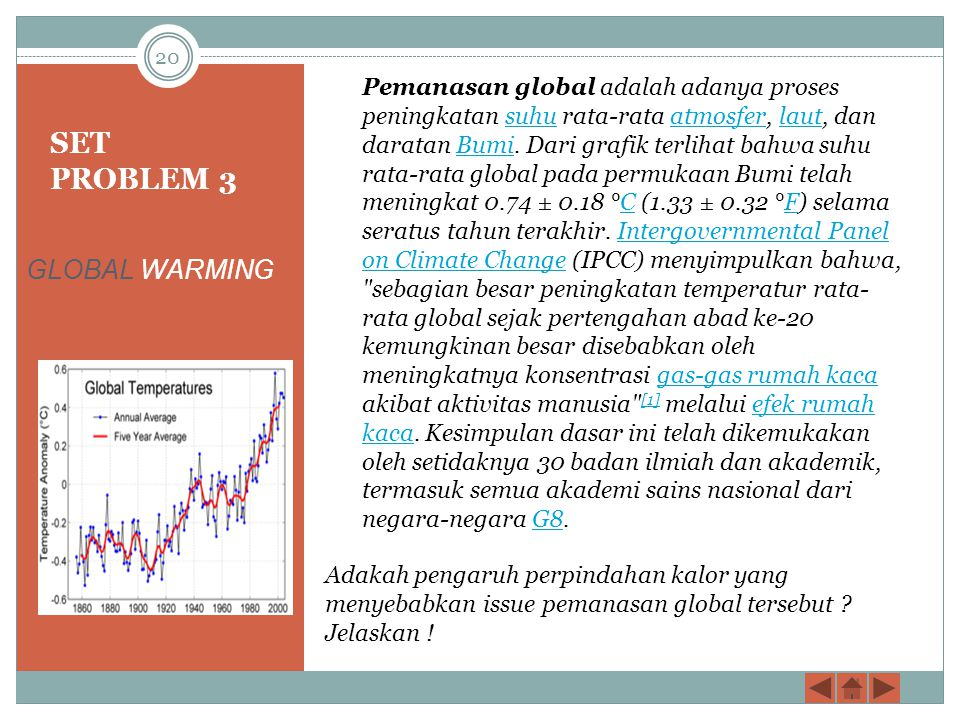 SET PROBLEM 3 GLOBAL WARMING