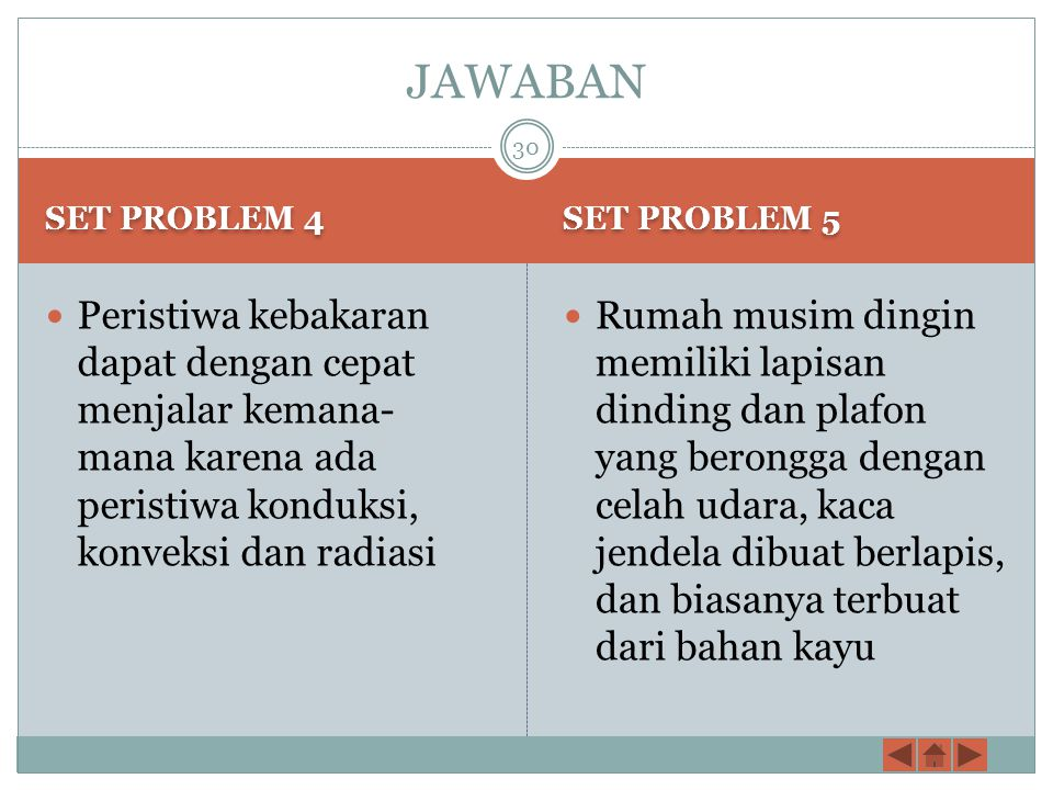 JAWABAN SET PROBLEM 4. SET PROBLEM 5.