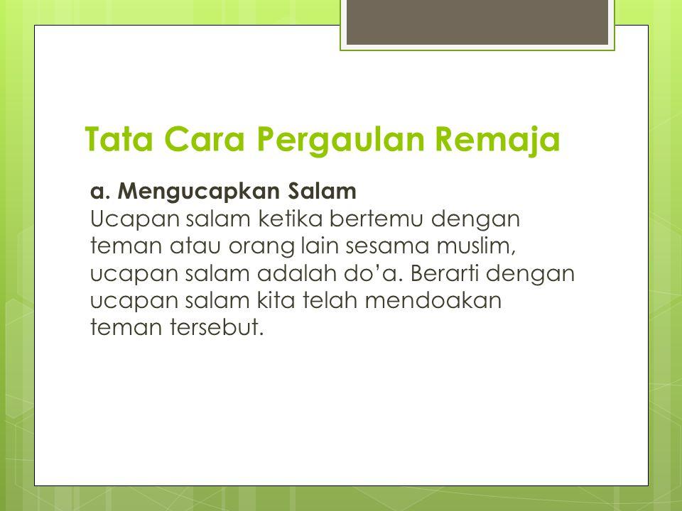 Etika Pergaulan Remaja Dalam Pandangan Islam Ppt Download