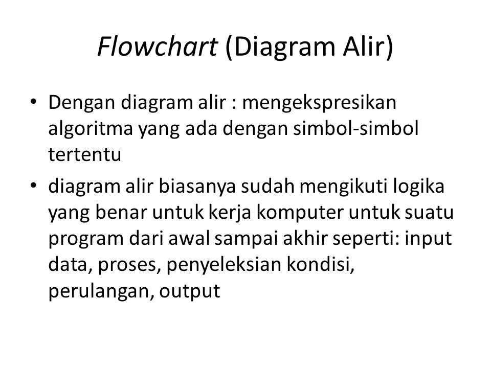 Flowchart (Diagram Alir)