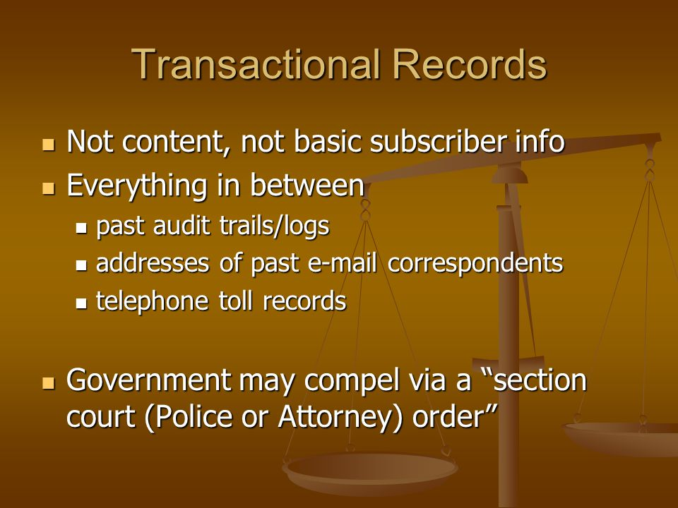 Transactional Records