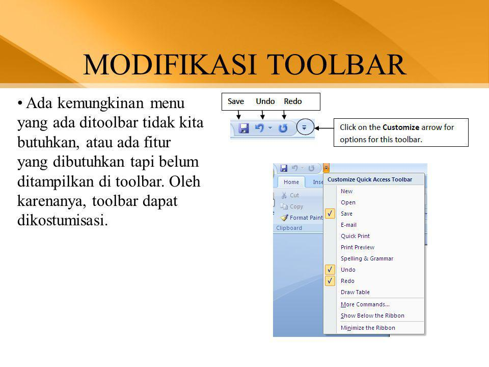 MODIFIKASI TOOLBAR