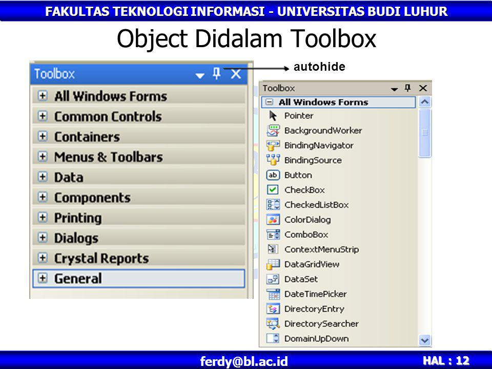 Object Didalam Toolbox