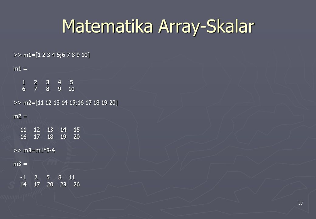 Matematika Array-Skalar