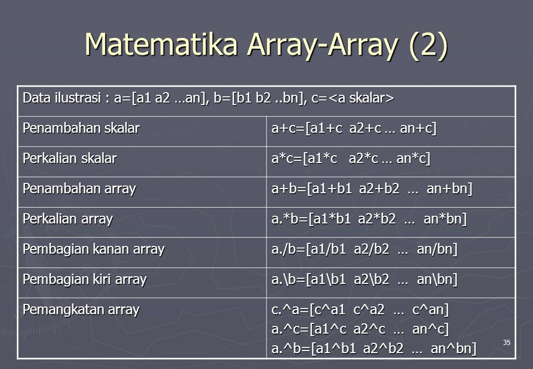 Matematika Array-Array (2)