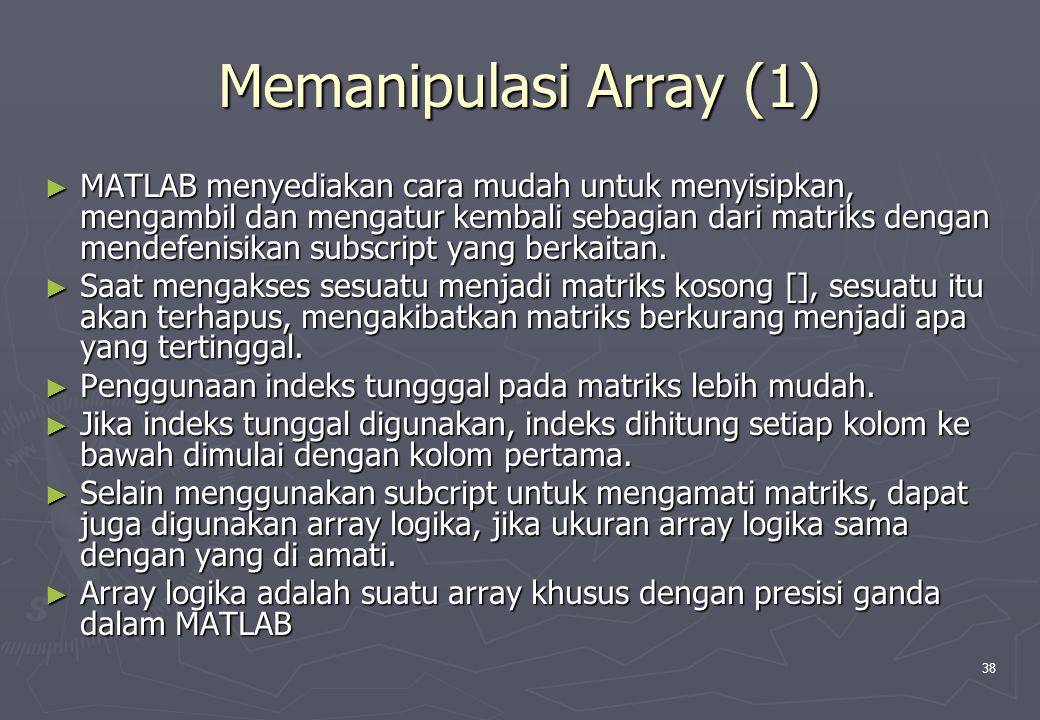 Memanipulasi Array (1)