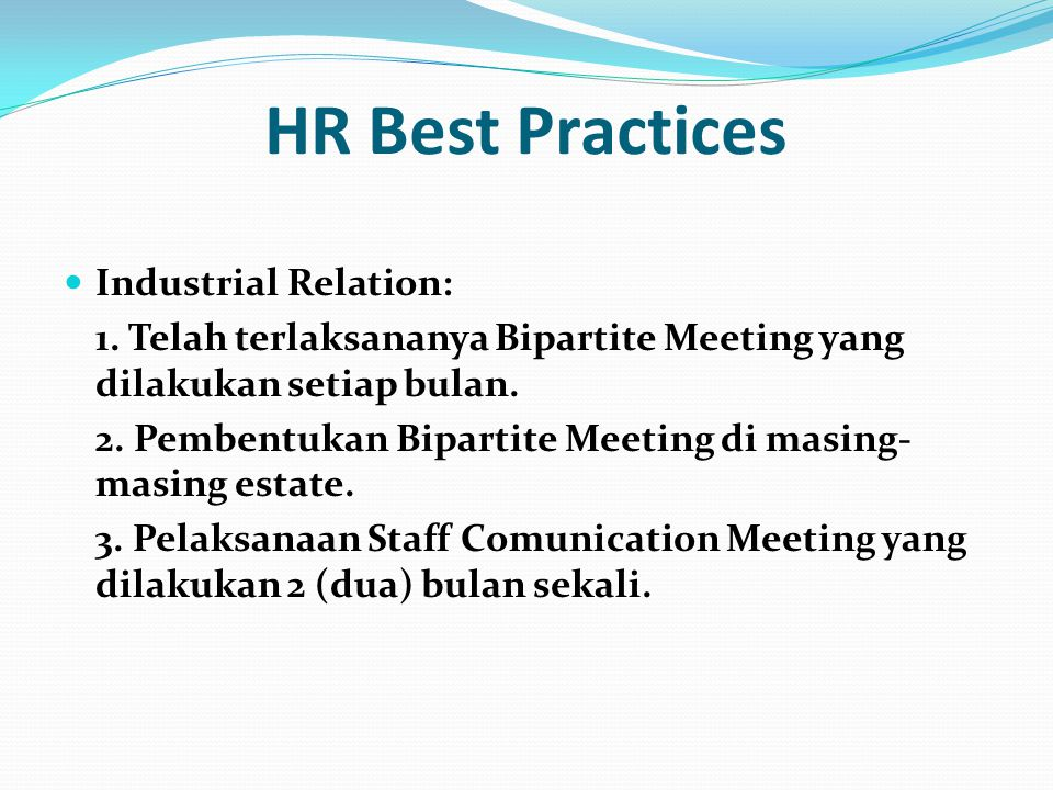 HR Best Practices Industrial Relation: