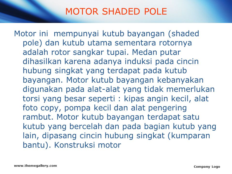 MOTOR SHADED POLE