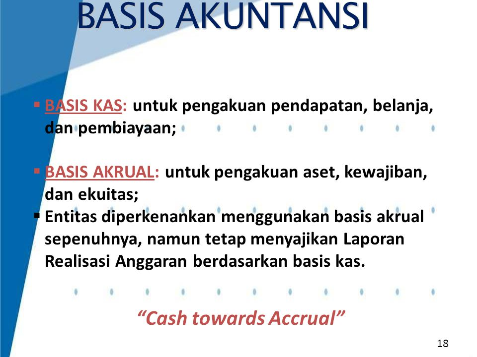 Cash towards Accrual