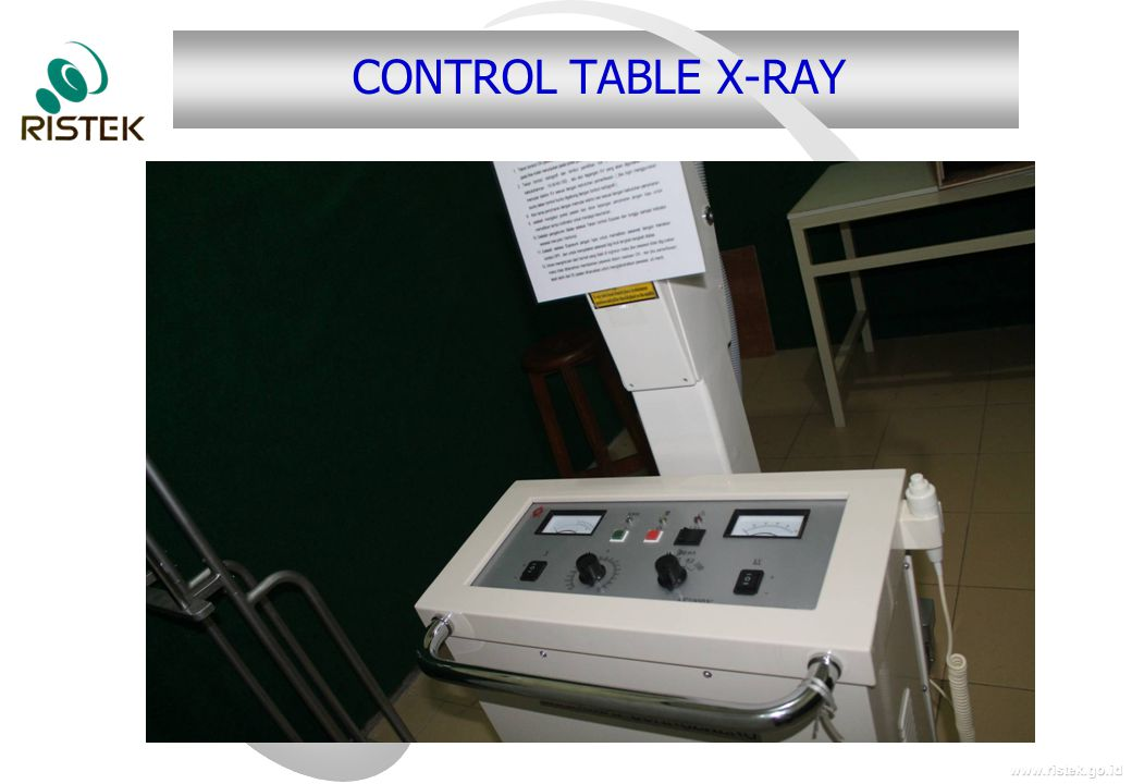 CONTROL TABLE X-RAY