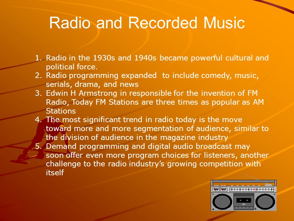 Radio and Recorded Music
