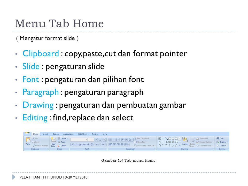Menu Tab Home Clipboard : copy,paste,cut dan format pointer