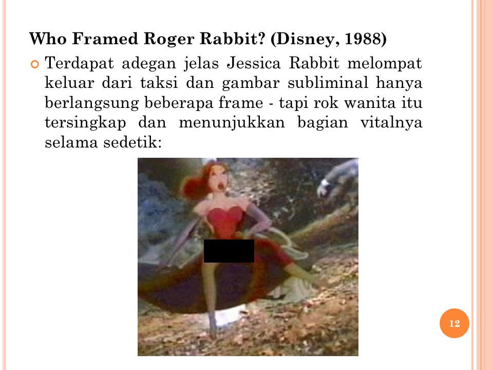 Who Framed Roger Rabbit (Disney, 1988)
