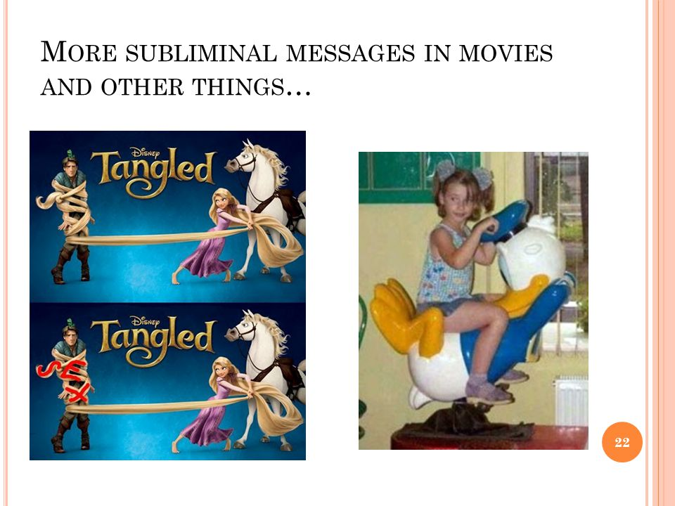 More subliminal messages in movies and other things…