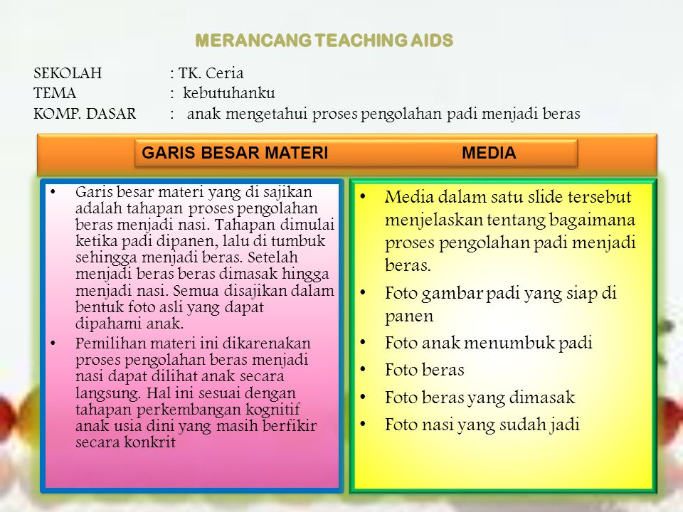 MERANCANG TEACHING AIDS
