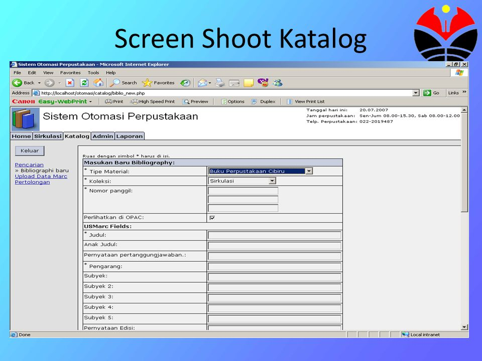 Screen Shoot Katalog