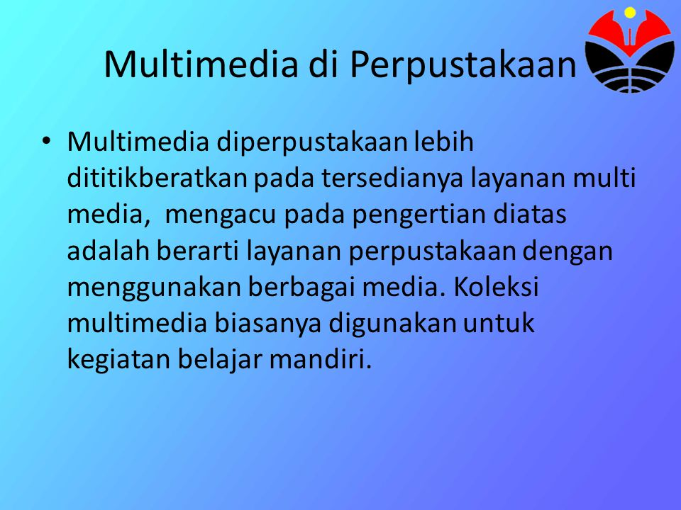 Multimedia di Perpustakaan