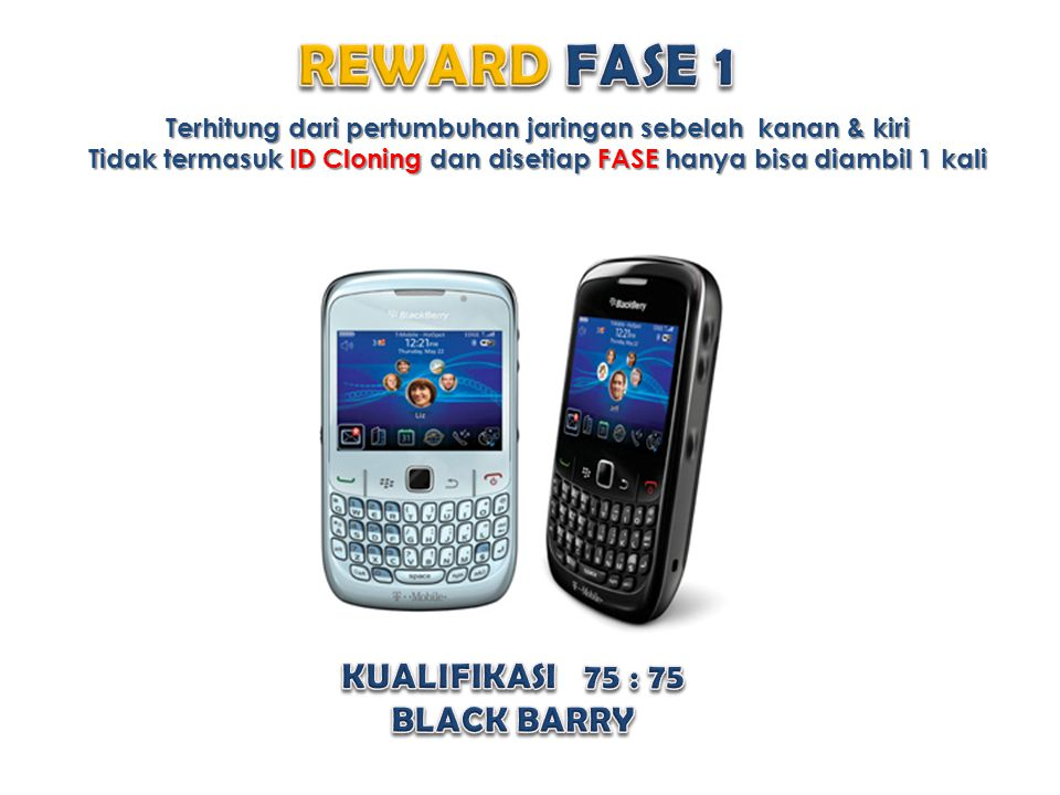 REWARD FASE 1 KUALIFIKASI 75 : 75 BLACK BARRY