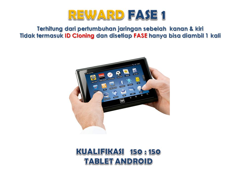 REWARD FASE 1 KUALIFIKASI 150 : 150 TABLET ANDROID
