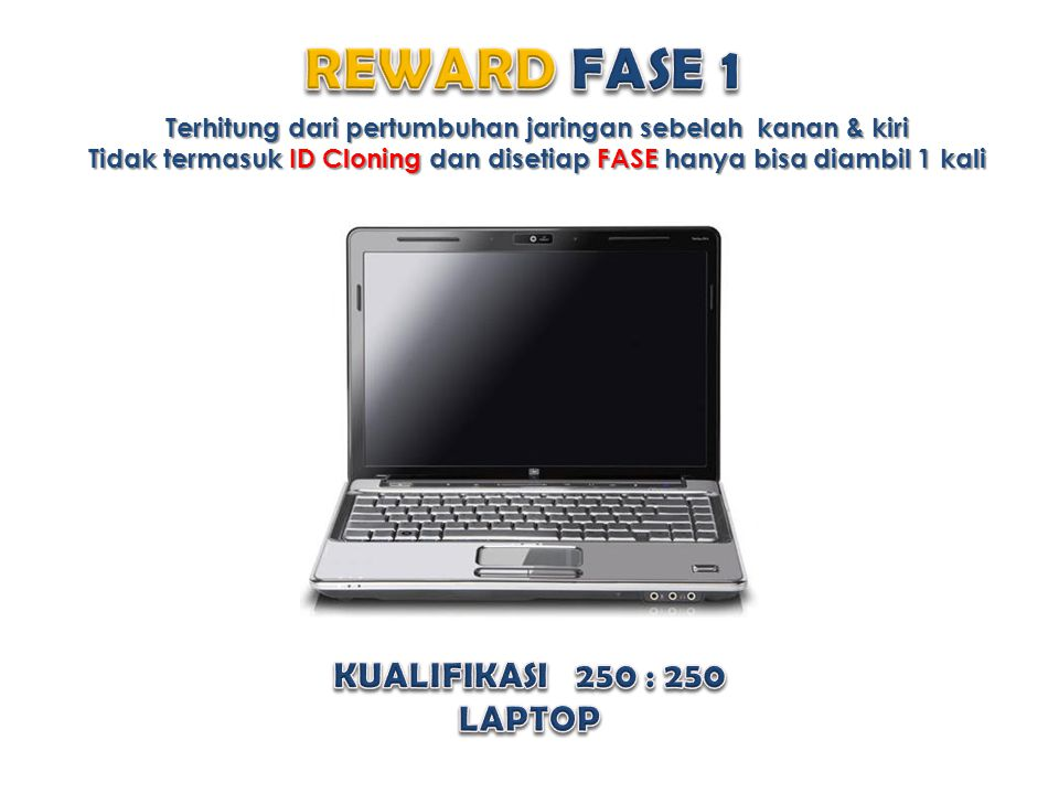REWARD FASE 1 KUALIFIKASI 250 : 250 LAPTOP