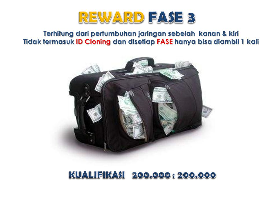 REWARD FASE 3 KUALIFIKASI 200.000 : 200.000