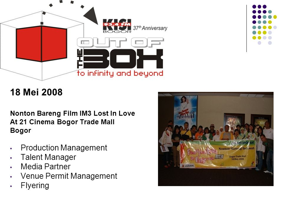18 Mei 2008 Production Management Talent Manager Media Partner