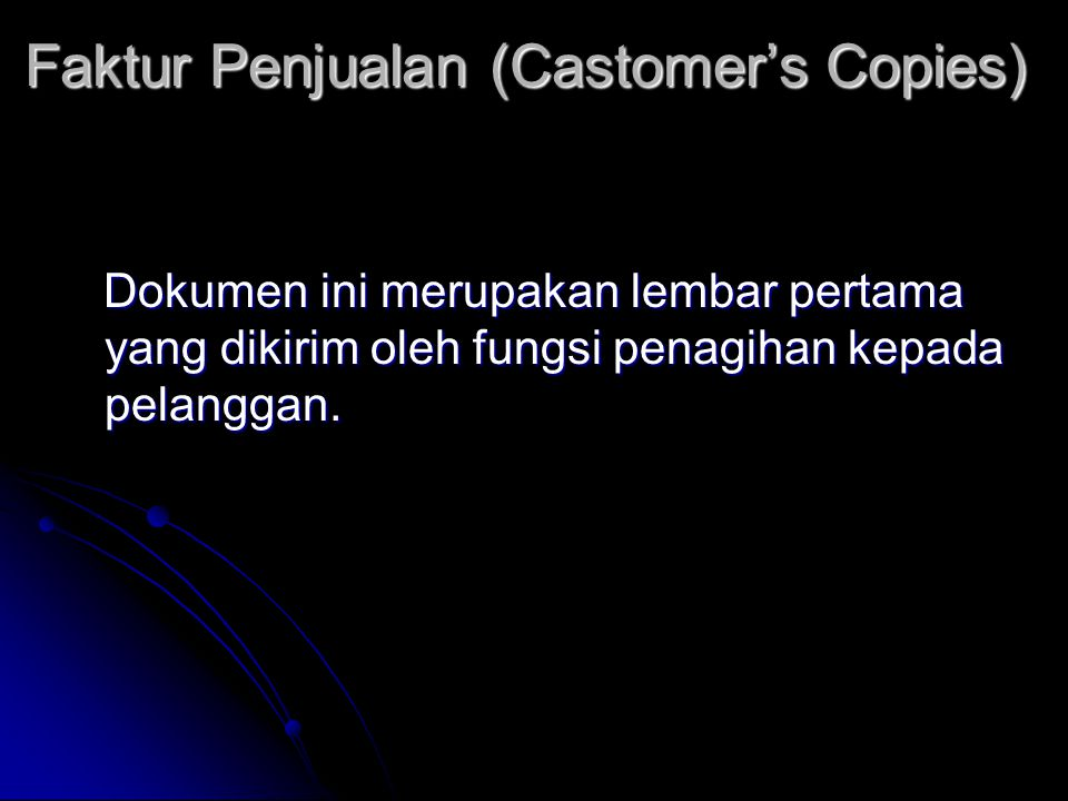 Faktur Penjualan (Castomer's Copies)