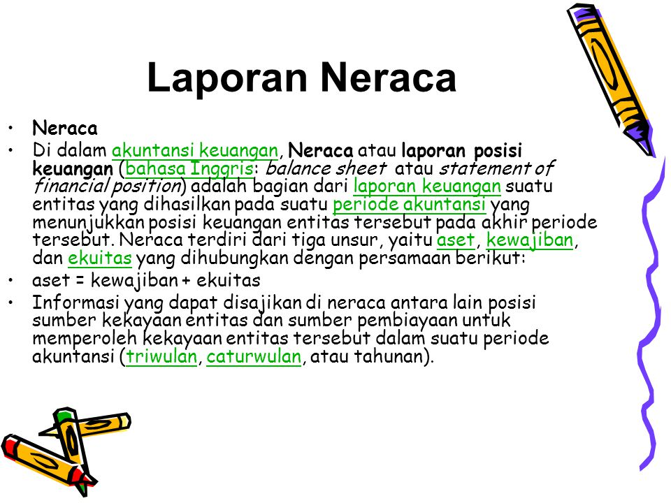 Laporan Neraca Rugi Laba Keuangan Ppt Download