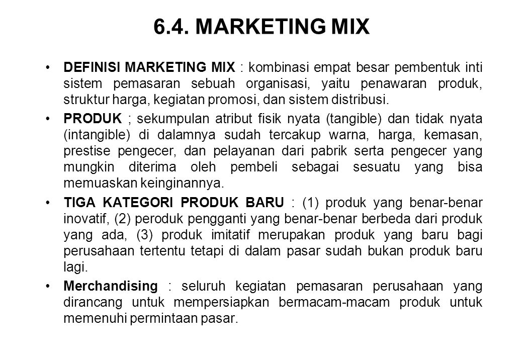 6.4. MARKETING MIX