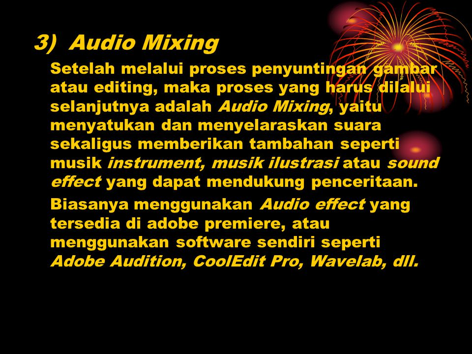 3) Audio Mixing