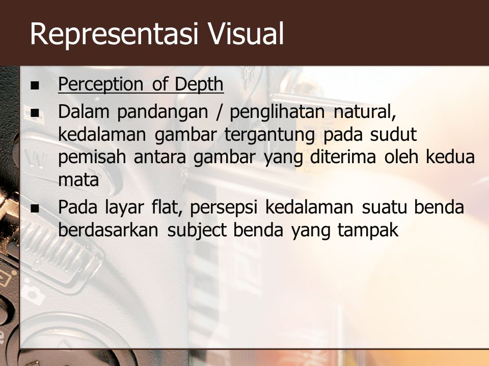 Representasi Visual Perception of Depth