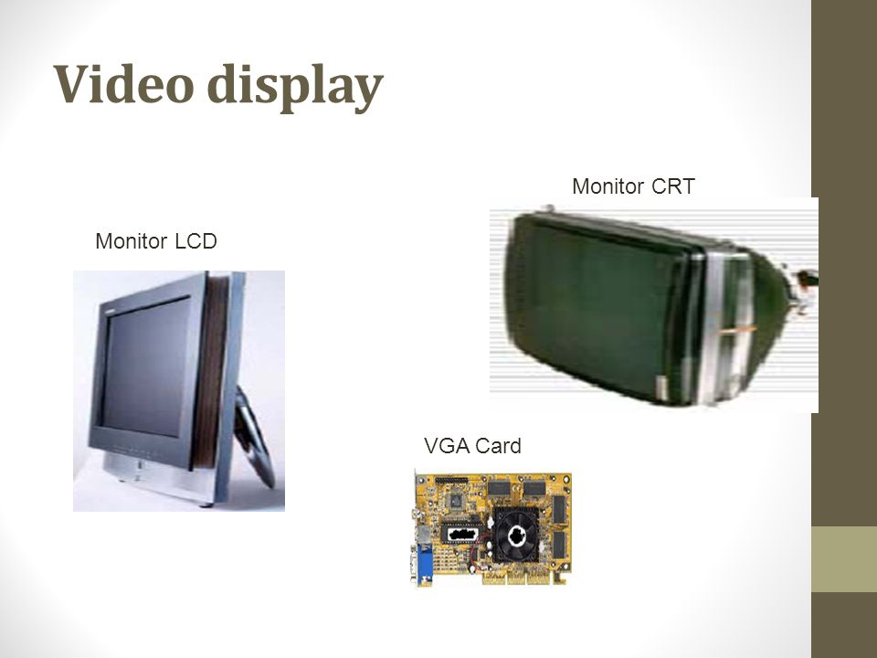 Video display Monitor CRT Monitor LCD VGA Card