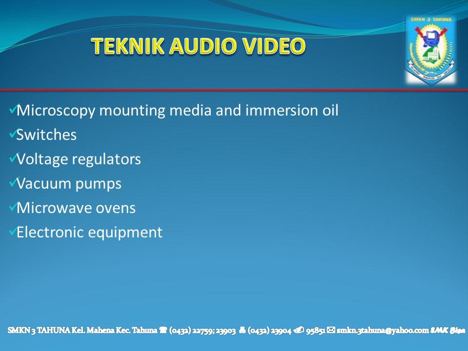 TEKNIK AUDIO VIDEO Microscopy mounting media and immersion oil