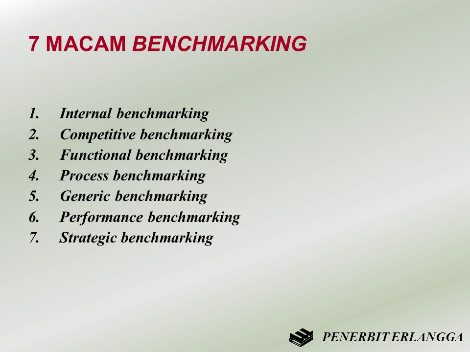 7 MACAM BENCHMARKING Internal benchmarking Competitive benchmarking