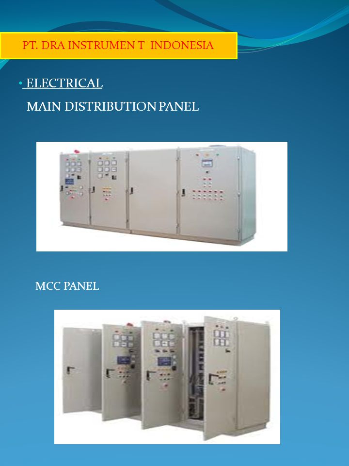ELECTRICAL MAIN DISTRIBUTION PANEL