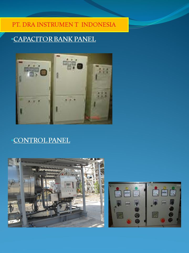 CAPACITOR BANK PANEL CONTROL PANEL