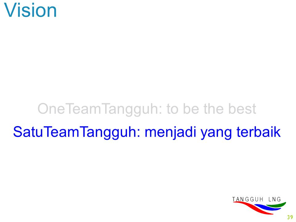 Vision OneTeamTangguh: to be the best
