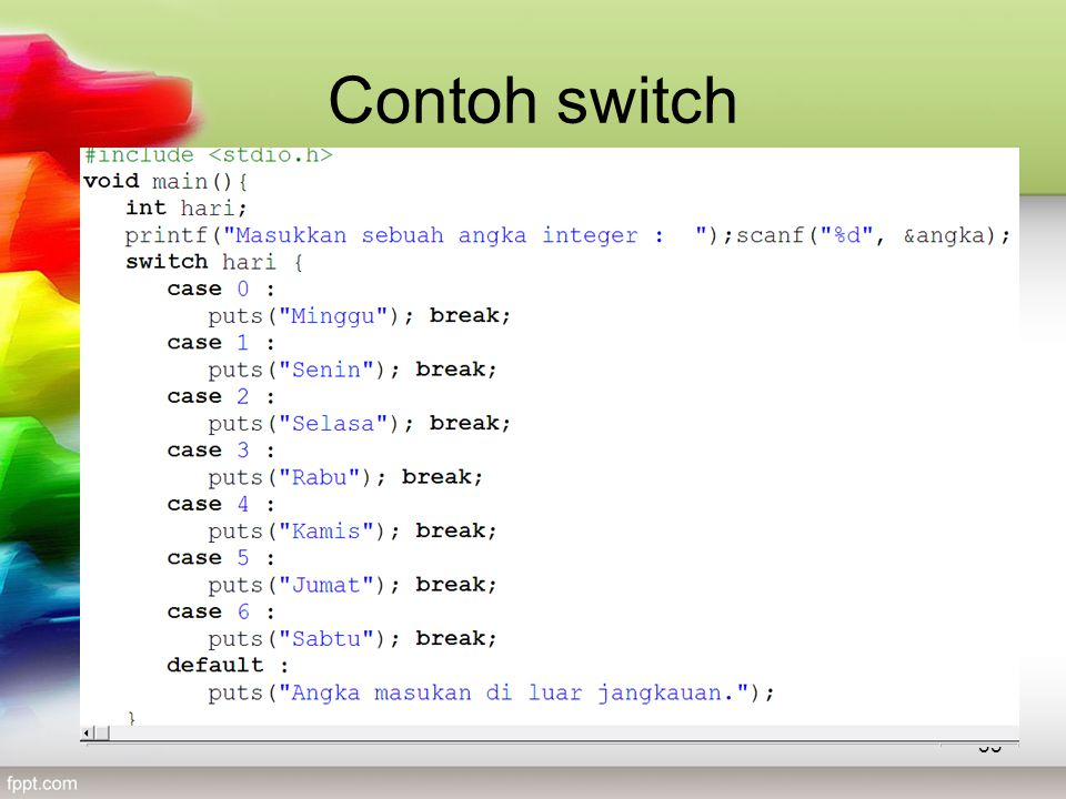 Contoh switch