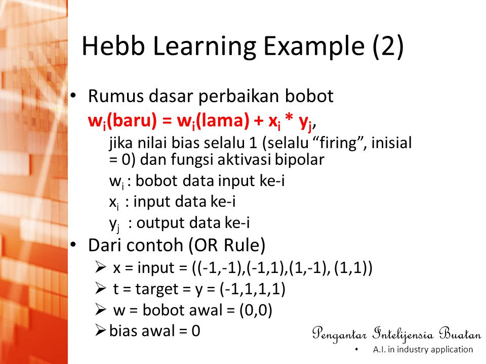 Hebb Learning Example (2)