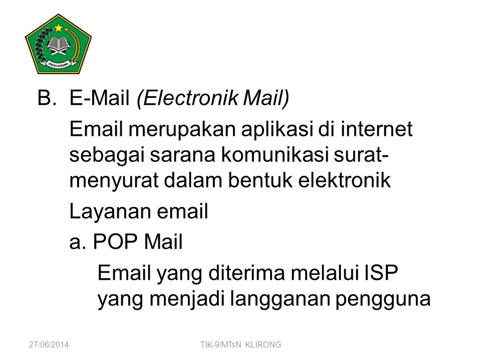 E-Mail (Electronik Mail)