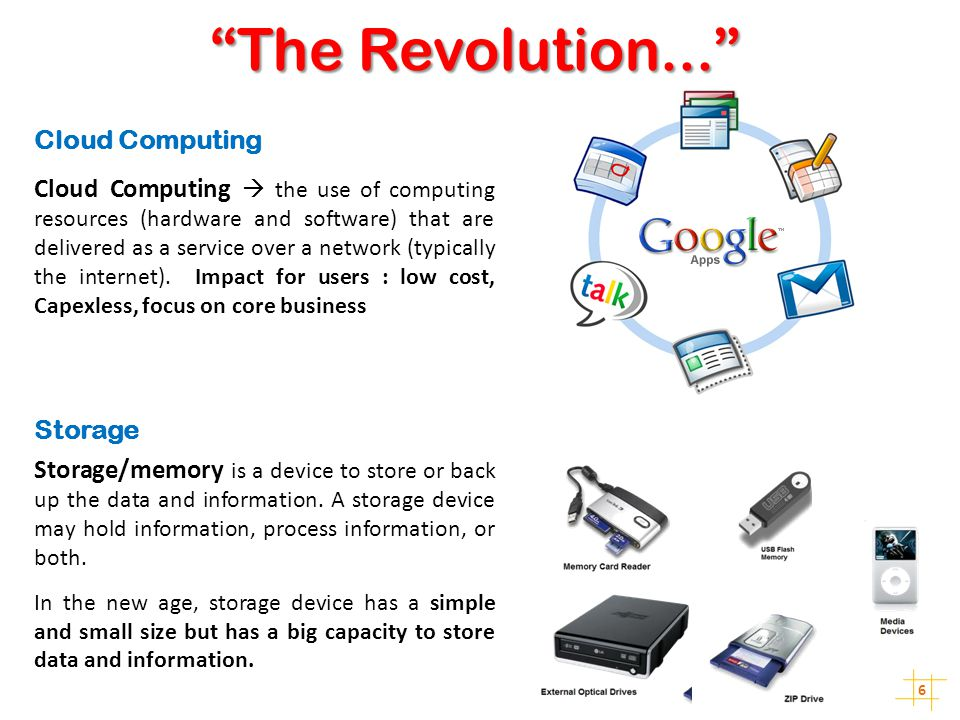 The Revolution... Cloud Computing
