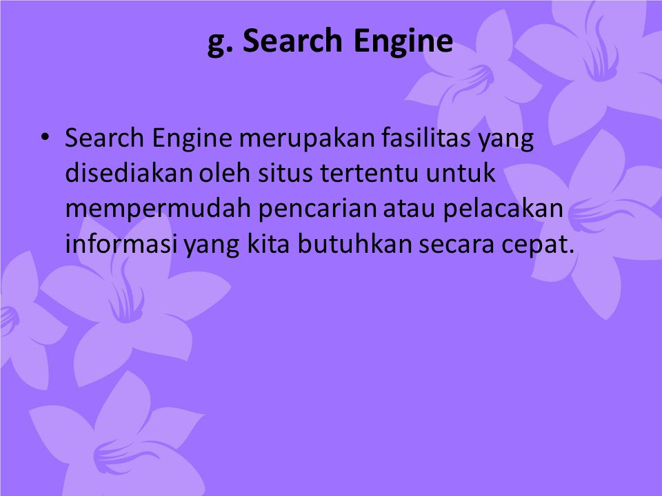 g. Search Engine