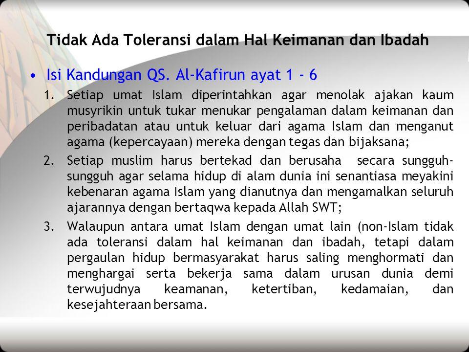 Toleransi Dalam Beragama Ppt Download