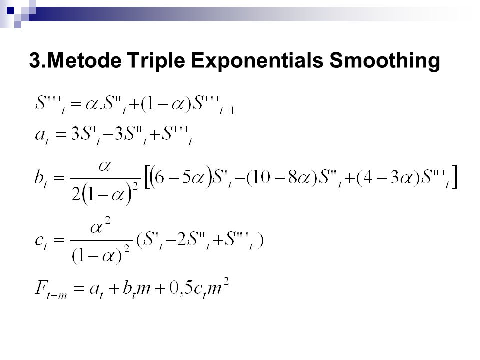 3.Metode Triple Exponentials Smoothing