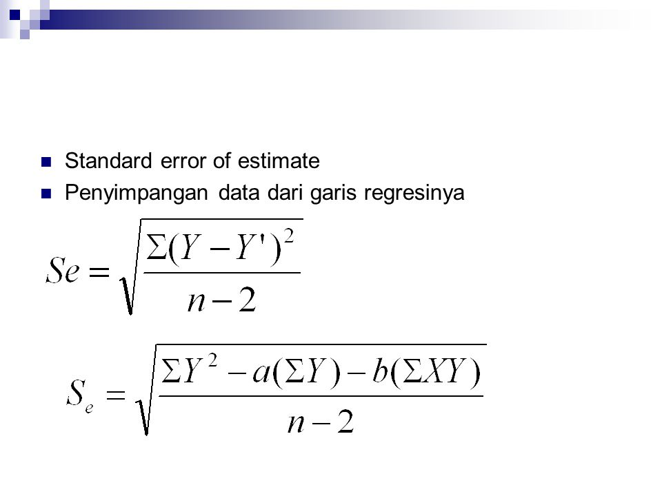 Standard error of estimate