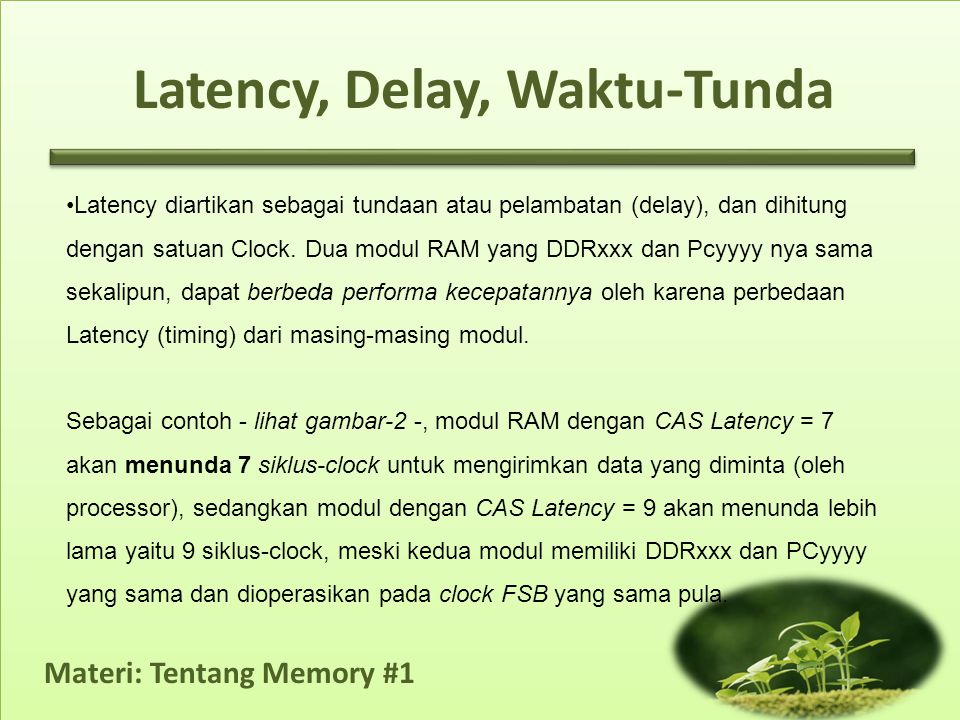 Latency, Delay, Waktu-Tunda